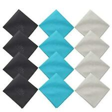 12-Pack Microfiber Cleaning Cloth Mobile Phones, Glasses, Tablets, TV, iPads