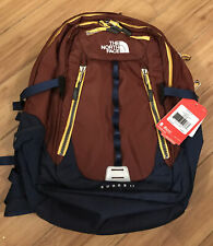 NEW WITH TAGS The North Face SURGE II Maroon / Navy/ Yellow Backpack