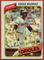 1980 Topps #160 Eddie Murray Near Mint+ Pack Fresh Baltimore Orioles FREE SHIP
