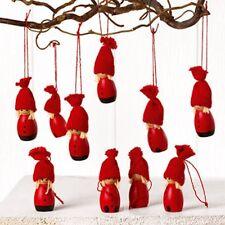 Scandinavian Swedish Danish Norwegian Christmas Gnome Ornaments 10 pk #7262
