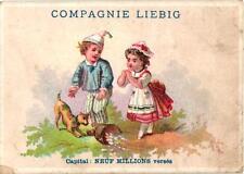 1 card 4 méd 8dipl Liebig Company 16_6 circa1872, uovo 9,8cmX7cm RARE see scan