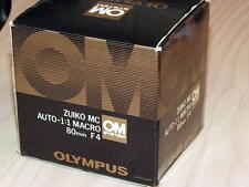 OLYMPUS OM ZUIKO 80mm F4 AUTO MACRO BELLOWS LENS NEW IN BOX LATER MC VERSION