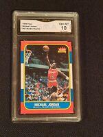GEM MINT 10 💥 1986 FLEER MICHAEL JORDAN custom ROOKIE CARD BULLS psa? Bgs?