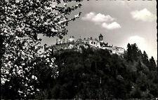 Ruine Landskron bei Villach Kärnten s/wAK 1958 Blick auf die Burg blühender Baum