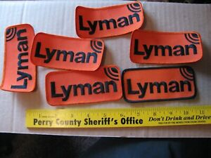 6 LYMAN SCOPE SIGHTS  VINTAGE HAT CAP HUNTING GUN RIFLE PATCH ELK DEER MOOSE