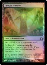 1x Foil Temple Garden MTG: Return to Ravnica LP