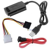 SATA/PATA/IDE to USB 2.0 Adapter Converter Cable for 2.5/3.5 Inch Hard Drive Aʌ