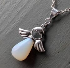 Silver Plated Pendant Opalite Costume Necklaces & Pendants