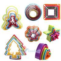 5 6Pcs/Set Various Set Fondant Biscuit Cake Cookie Maker Mold Cutter DIY Tool #A