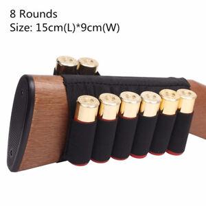 8 Round Shotgun Buttstock Ammo Pouch Shell Holder Cartridge Bandolier 12/20GA US