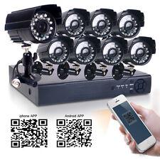 8CH 960H HDMI Surveillance DVR Waterproof Outdoor Security 700TVL CCTV Camera