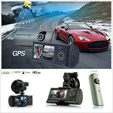 Dual Dash Car Camera GPS logger HD In-Car Truck Home Security System Video Crash
