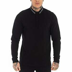 Foray Marcos Long Sleeved Polo T-Shirt Black