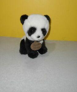 "8"" Yomiko Classics Panda Bear Cub Black White Russ Plush Stuffed Item 35660"