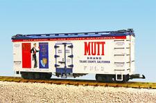 Usa Trains G Scale U.S. Reefer Car R16411 Mutt Brand Oranges White/Blue