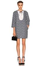 A.P.C. Doria Broderie Anglaise Lace Floral Print Linen Cotton Dress - 36 apc