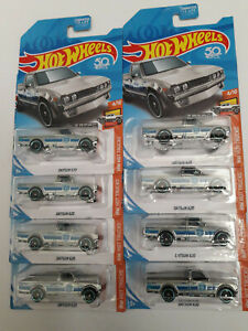 2018 HOT WHEELS Walmart Exclusive ZAMAC Datsun 620 Pick Up Trucks, lot of (8)