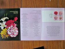 FLOWERS ROSE LILY DAHLIA CAMELLIA 1981 #1876-9  FIRST DAY CEREMONY PROGRAM