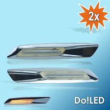 LED Seitenblinker Blinker CHROM Look p. für BMW E60 E61 E81 E82 E87 E88 E90 22C
