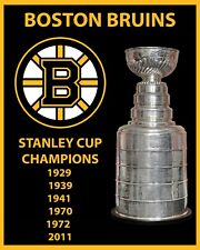Boston Bruins Stanley Cup Champions Wall Art Poster, 8x10 Color Photo