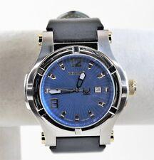 Rare Renato Men's T-Rex Gen II Watch, Swiss ETA 2824, Blue Laser Cut Dial in SS