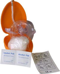 Taschenmaske Pocket Maske Reanimation  VE Beatmungsmaske Orange CPR NEU