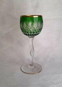 Saint Louis Weinrömer Weinglas Bleikristall Überfang glas Luftblase St. Louis