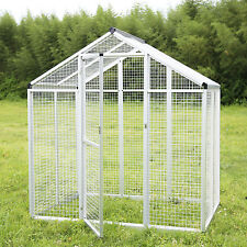 Heavy Duty Bird Cage Parrot Walk In Aviary Play Top LARGE Pet House White New