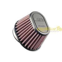 Filtro aria DNA Ø54mm conico ovale con top in gomma lavabile rosso OV-5400