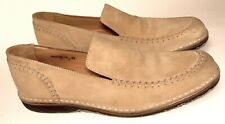 JOHN VARVATOS Sz. 9.5 Beige Suede Loafer Handcrafted ITALY Fine Preowned Clean