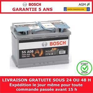 S5A08 Bosch 12V 70Ah AGM Batterie de Voiture Robuste 096 S5 A08