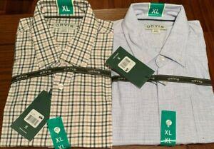 NEW Men's Orvis Skyline Shirt Long Sleeve Classic Fit Soft Check Plaid