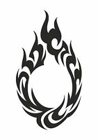 Circle of Flame Tattoo style stencil, 350 micron Mylar not thin stuff  #TaT0029