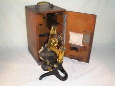 Antique E Leitz Wetzlar Microscope Boxed No. 62222