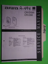 Aiwa cr-ds96 d90 service manual original repair book stereo radio walkman
