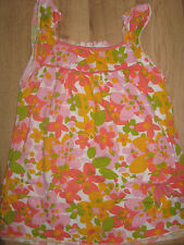 NEW WOMEN'S GIRLS CLOTHES SLEEVELESS LONG TOP FLORAL PRETTY EUR 36 UK SIZE 8