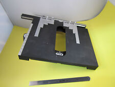 Microscopio Nikon Japón Pieza Escenario Diapositivas Papelera #C1