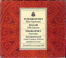 ROSTROPOVICH: ELGAR Cello Concerto PROKOFIEV Concertino ROZHDESTVENSKY Carnegie