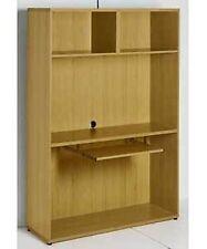 Tall Wooden Computer Work Station 173x120x40cm Home Office Study PC Shelf