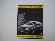 advertising Pubblicità 1983 RENAULT FUEGO TURBO