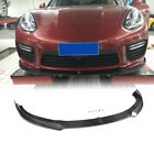 For Porsche Panamera Gts Turbo S 2014-16 Carbon Fiber Front Bumper Lip Spoiler