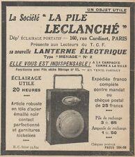 Z9600 La Pile Leclanché -  Pubblicità d'epoca - 1924 Old advertising