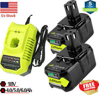 For RYOBI P108 18V One+ Plus High Capacity 18Volt Lithium-Ion Battery or Charger