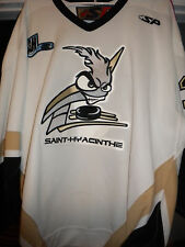 2007-08 LNAH QMJHL ST HYACINTHE TOP DESIGN GAME WORN DEREK JACOBS HOCKEY JERSEY