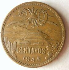 1944 MEXICO 20 CENTAVOS - Excellent Coin - FREE Ship - Mexico Bin #B