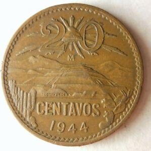 1944 Mexico 20 CENTAVOS - Excellent Coin Mexico Bin #B