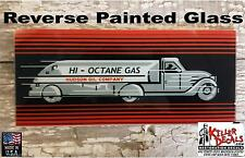 """HUDSON AD GLASS SIZE 5"""" X 12 5/8"""" WAYNE 70 FRONT AND REAR GAS PUMP"""