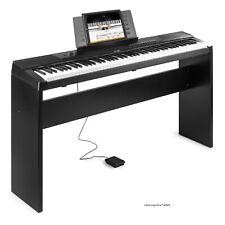 MAX KB6W Digital Piano Stand Set 88 Tasten mit Holzständer schwarz