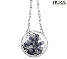 Necklace pendant Damiani Paradise Collection diamonds blue sapphires white gold