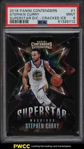 2018 Panini Contenders Superstar Cracked Ice Stephen Curry /25 #1 PSA 9 MINT
